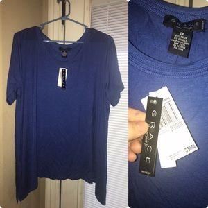 Royal blue short sleeve shirt
